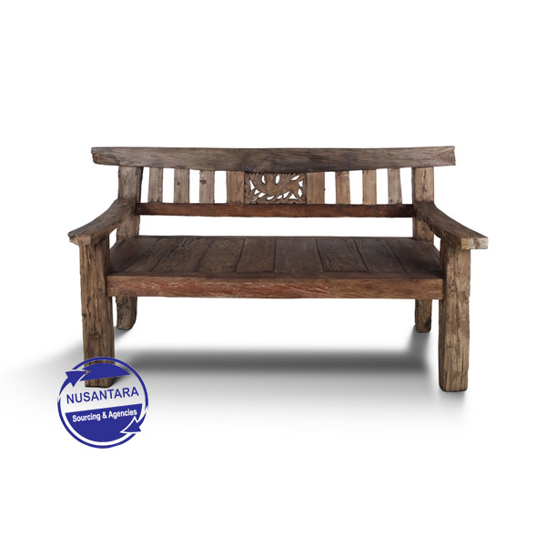 OLD JAVA WOOD BENCH 150CM