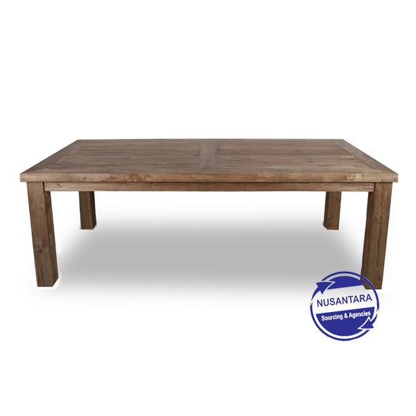 RECYCLED TEAK DINING TABLE 180CM
