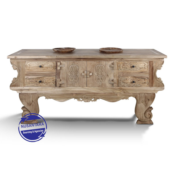 BALINESE SIDEBOARD 4 DRAWER