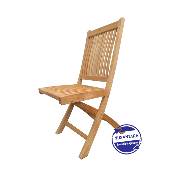 Kiffa Teak Folding Chair - Armless