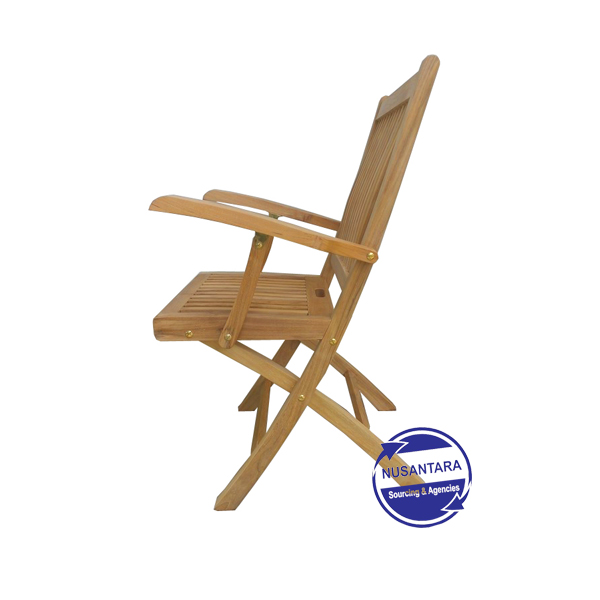 Kiffa Teak Folding Arm Chair