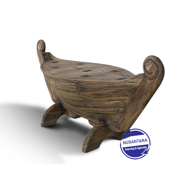 BANDENGAN BOAT COFFEE TABLE RUSTIC
