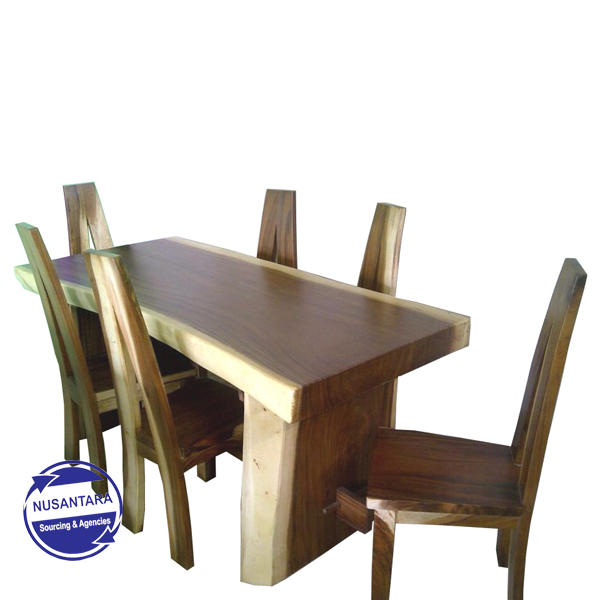 Live Edge Suar Wood Dining Table Archie