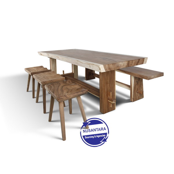 Munggur Live Edge Dining Table 240cm
